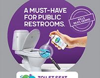 PRIM Toilet Seat Sanitizer Visual Merchandise POSM