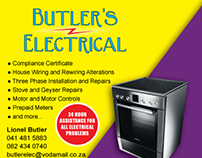 Butler's Electrical / Stove Master Print Ad