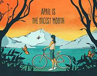 Smashing April - calendar design