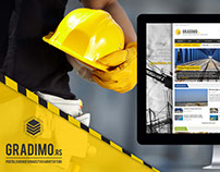 Web design for Gradimo portal