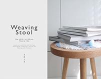 TWO─WAY Weaving stool (2015)