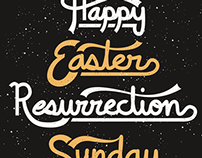 Easter Hand Lettering and FREE download