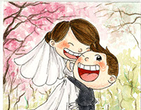 Chay Tong + Pui San's Wedding Illustration