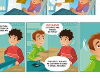 Ilustración de textos de educación