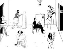 """Иллюстрации для Музея современного искусства """"Гараж"""""""