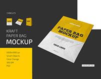 Kraft Paper Bag Mockup Set
