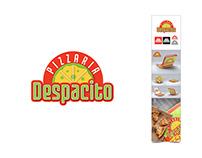 Despacito Pizzaria Logo & Box Package