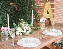 Wedding Themed Table Setting