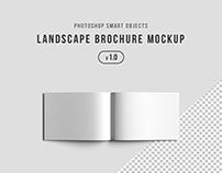 Photoshop Landscape Brochure Mockup (.psd)