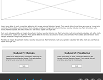 Wireframes and prototypes used in web design projects.