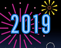 New Year's 2019 Fireworks Animation