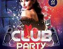Club Party - Freebie DJ PSD Flyer Template