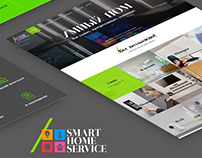 Responsive landing page Smart Home Service