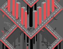 CIUDAD GRIS Y ROJO / Illustration