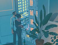 airbnb Magazine cover Illustration