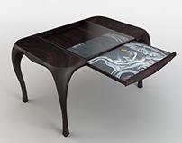 "Design table ""Vision"". Create 3D model."
