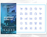 FREE SHOPPING / E-COMMERCE ICON SET