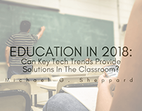 Education In 2018 | Michael G. Sheppard
