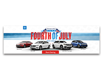 Four of July Sales Banner and Email Header