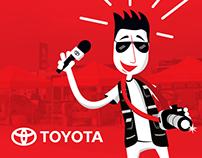 Sé nuestro corresponsal Toyota. App Design