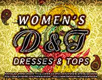 DRESSES & TOPS - WOMENS WEAR