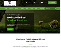 One Page Gardening Website HTML Template By MD Masud