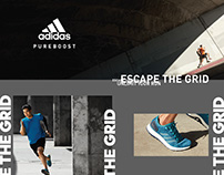 Adidas Pureboost- Escape the grid