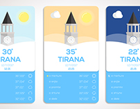 Weather mockup app for world capitals!