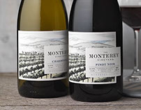 The Monterey Vineyard (Treasury) Wine Label & Packaging