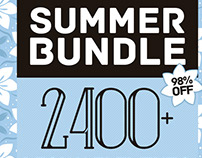 Summer Bundle 2400+ Design Elements