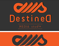 Destined Media Studio logo type design