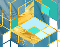 Glam Geometric Wall Art