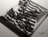 Crumpled Striped Paper