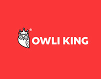 Owli King Modern logo design
