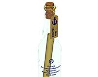 Bottle with scroll inside (3D model)