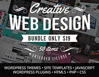 Creative Web Design Bundle with 50 Premium Items