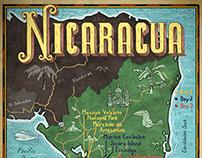 Nicaragua Map: Hemispheres Magazine
