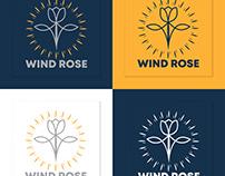Vintage Trendy Cosmetic Beauty Wind Rose Logo Design