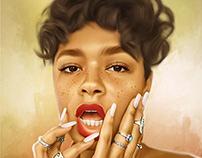 Black Girls Rock Series #1 Digital Art by Wayne Flint