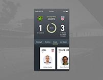 Live Soccer/Football Game Tracker