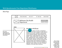 UX Wireframes for Local Government Questionnaire