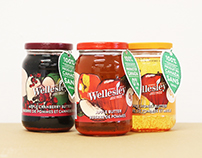 Wellesley's Apple Butter Brand Block Package Redesign!