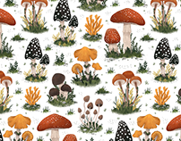 Fungi - Pattern Design for Caspar