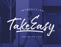 TakeEasy Brush | Free Font