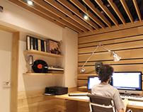 Pequeños espacios, habitación y estudio de música