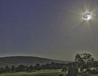 Blue Moon Flare - Surrealism Landscape