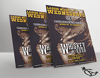 Whiskey Rush Promotion Printed Flyers