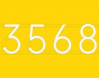 Sui-Number – Typeface Design