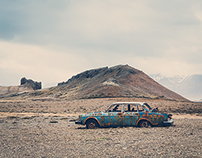 [:] abandoned car and dead sheeps [:]
