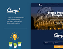 Clump! - Crowdfunding website